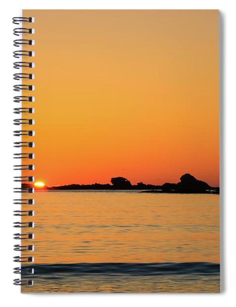 Sunset Over Sunset Bay, Oregon 4 Spiral Notebook