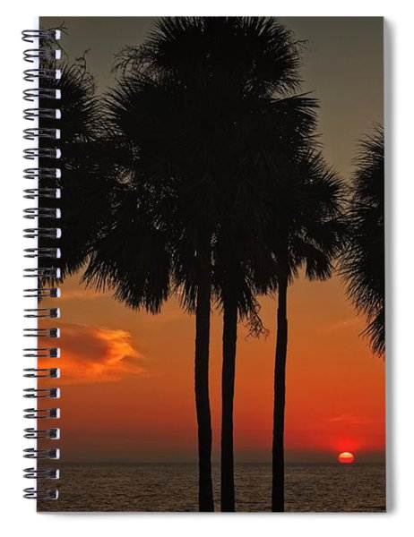 Sunset Over The Gulf Spiral Notebook