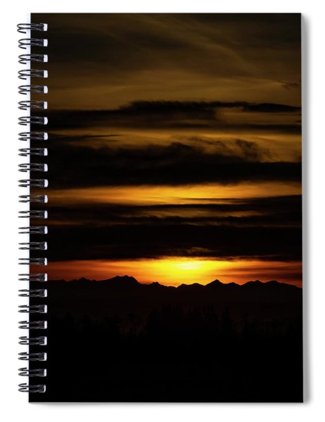Sunset Over The Rockies Spiral Notebook