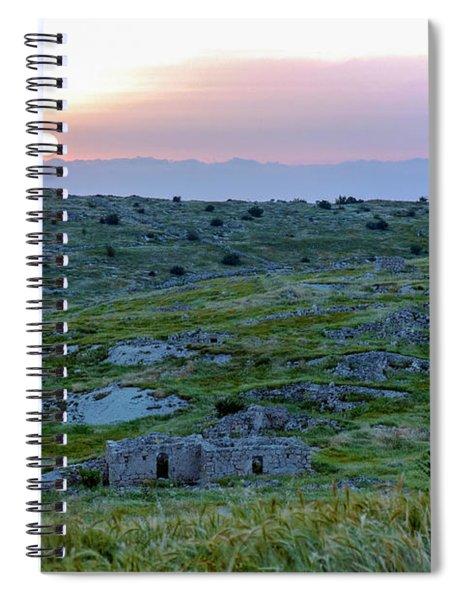 Sunset Over Um A-shekef, Israel Spiral Notebook