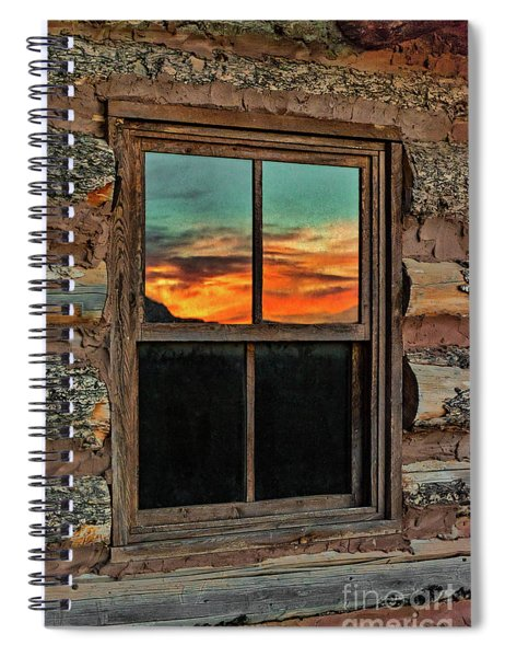 Sunset Reflection At Ghost Ranch Spiral Notebook