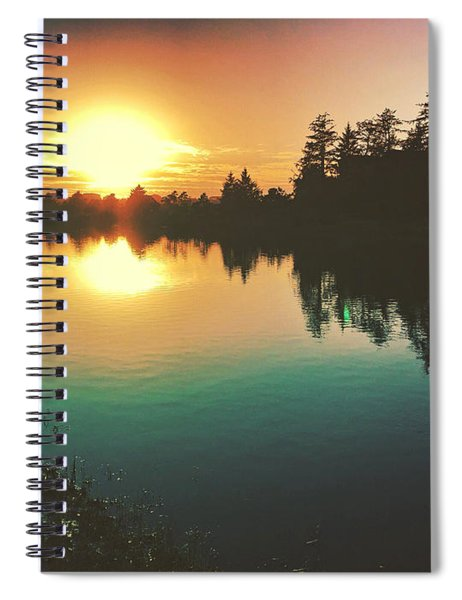 Sunset River Reflections  Spiral Notebook