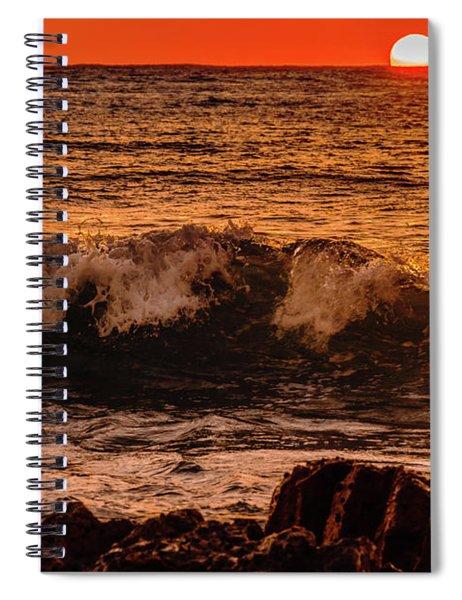 Sunset Wave Spiral Notebook