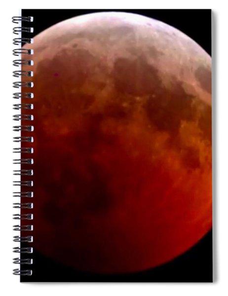 Super Blood Wolf Moon Spiral Notebook