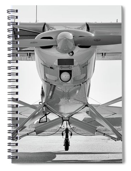 Super Cub In Black And White Spiral Notebook