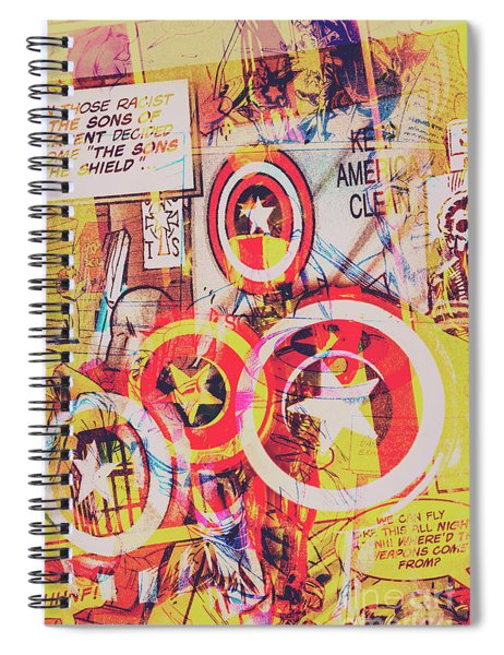 Super Hero Design Spiral Notebook