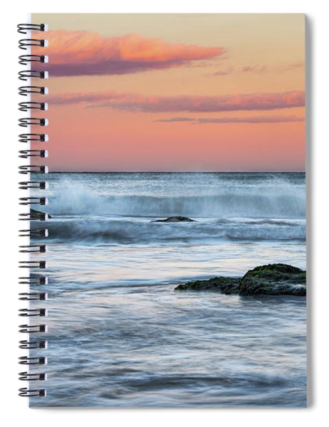 Super Moon And Sunset At Sozopol Town Beach Spiral Notebook