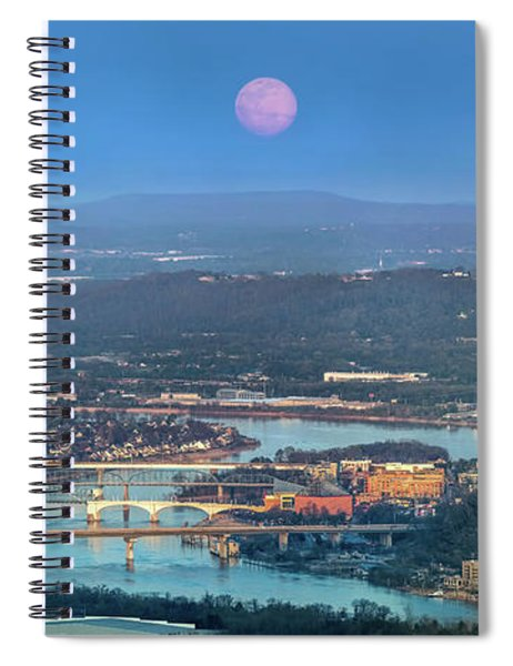 Super Moon Over Chattanooga Spiral Notebook