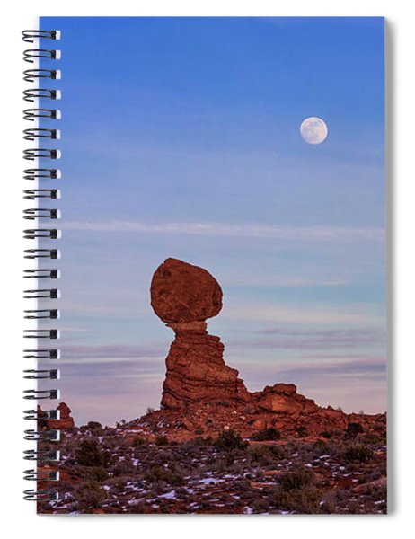 Super Moonrise At Balanced Rock Spiral Notebook