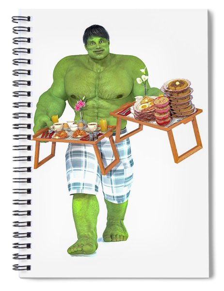Super Morning Hero Breakfast Spiral Notebook