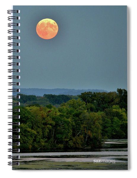 Supermoon On The Mississippi Spiral Notebook
