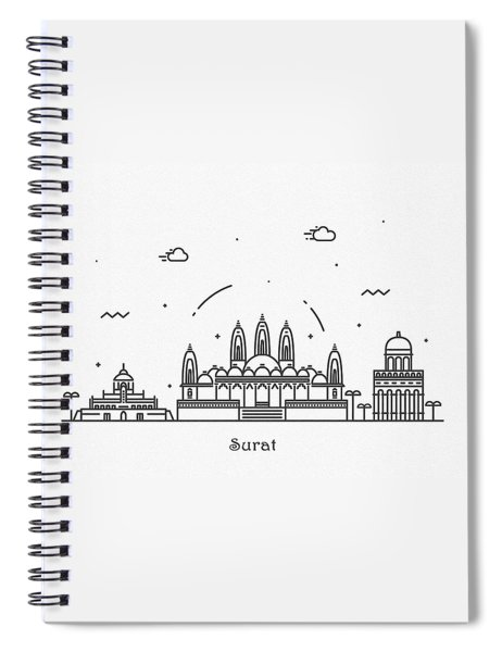 Surat Cityscape Travel Poster Spiral Notebook