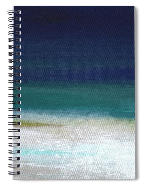 Surf And Sky- Abstract Beach Painting Spiral Notebook