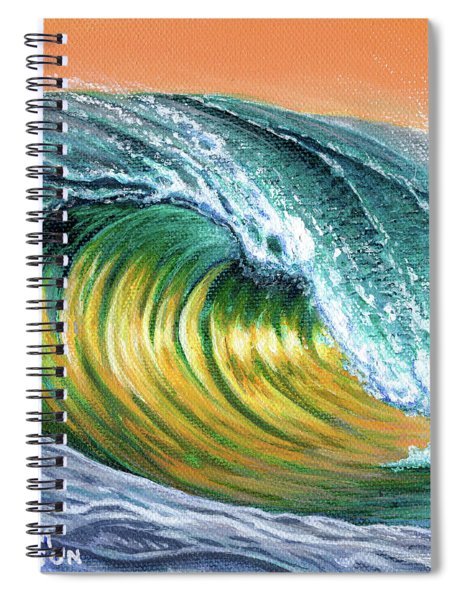 Surf Into The Sunset Spiral Notebook