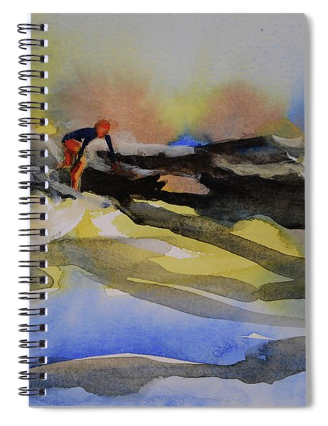 Surfer Girl On A Wave Spiral Notebook