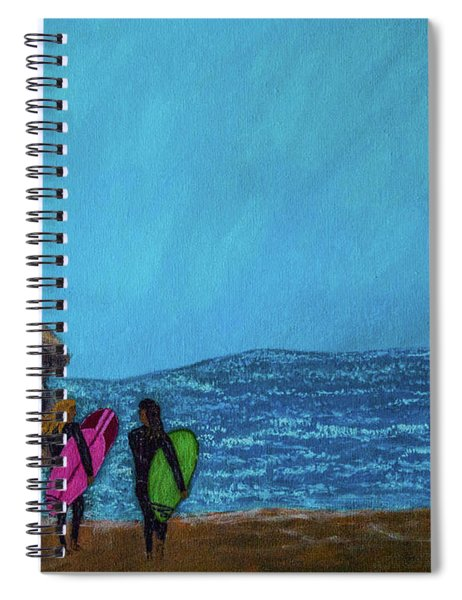 Surfer Girls Spiral Notebook