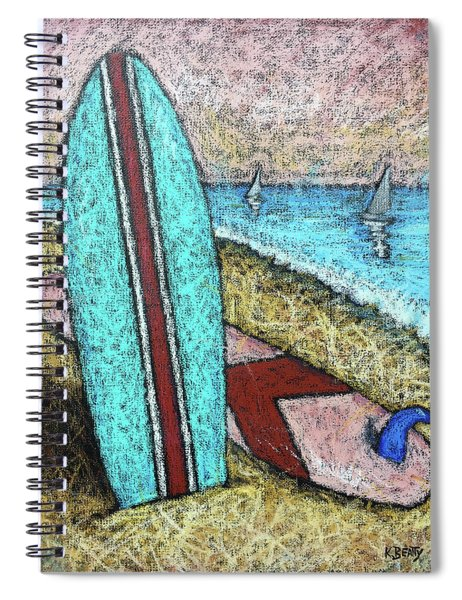 Surfing And Sailing Spiral Notebook