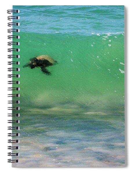 Surfing Turtle Spiral Notebook