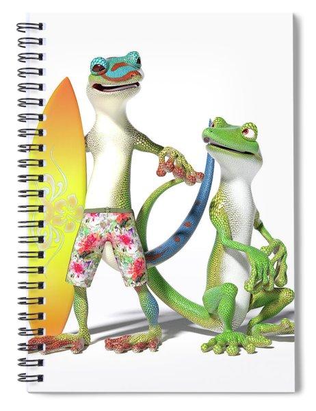 Surf's Up Geckos Spiral Notebook