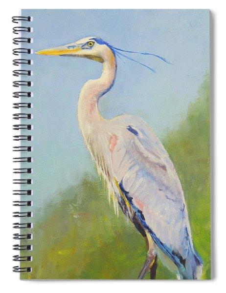 Surveyor - Great Blue Heron Spiral Notebook