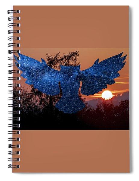 Sunset Owl Spiral Notebook