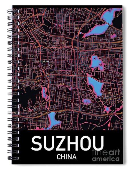 Suzhou City Map Spiral Notebook