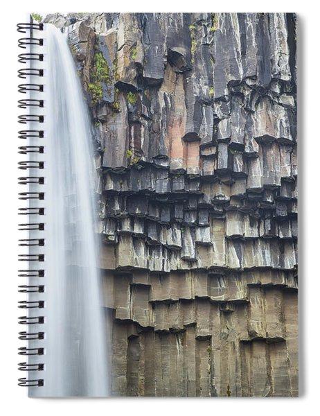 Svartifoss Portrait Iceland Spiral Notebook