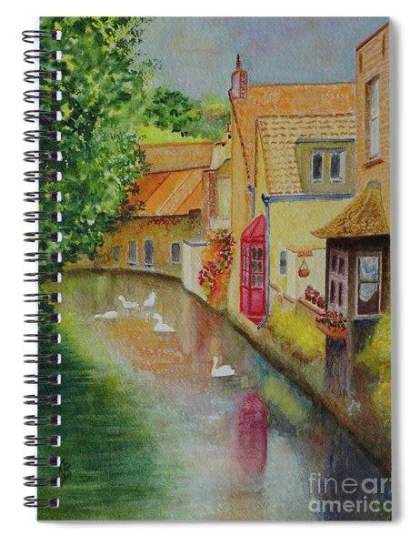 Swan Canal Spiral Notebook