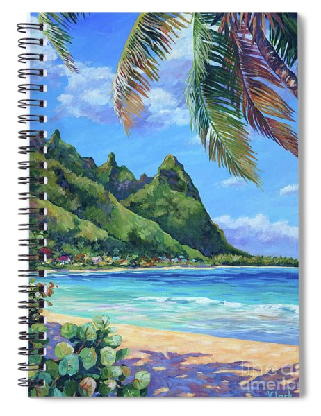 Swaying Palm On Makua Beach Spiral Notebook