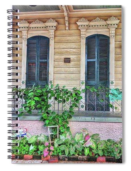 Sweet Cream And Ivy Spiral Notebook