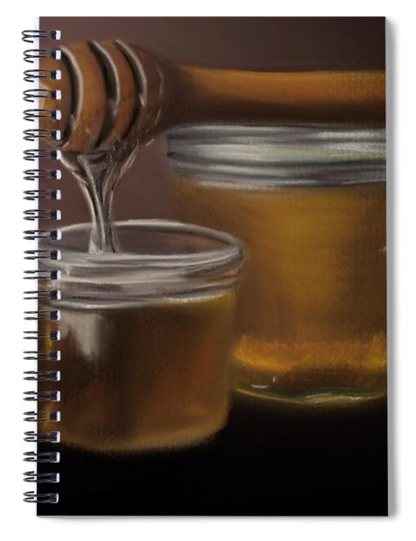 Spiral Notebook featuring the painting Sweet Honey by Fe Jones