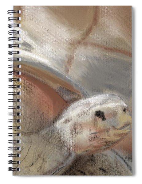Spiral Notebook featuring the digital art Sweet Tortoise by Fe Jones