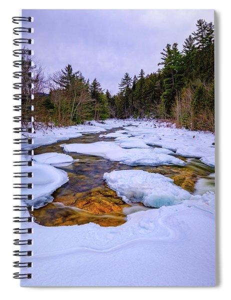 Swift River Winter  Spiral Notebook