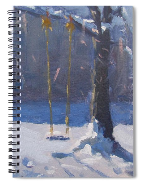 Swing And Snow Spiral Notebook