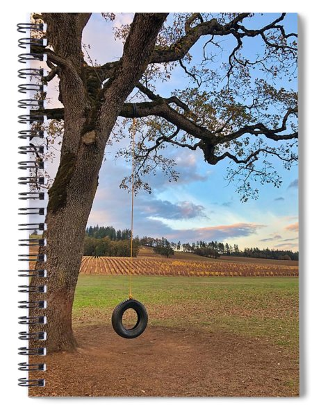 Swing In Tree Spiral Notebook