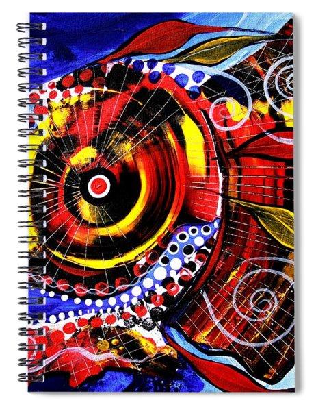 Swollen, Red Cavity Fish Spiral Notebook