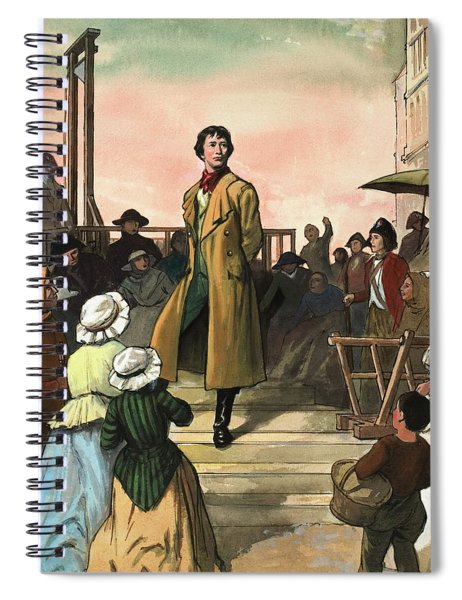 Sydney Carton, From A Tale Of Two Cities By Charles Dickens Spiral Notebook