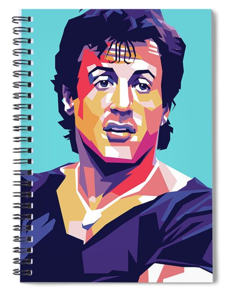 Sylvester Stallone Spiral Notebook