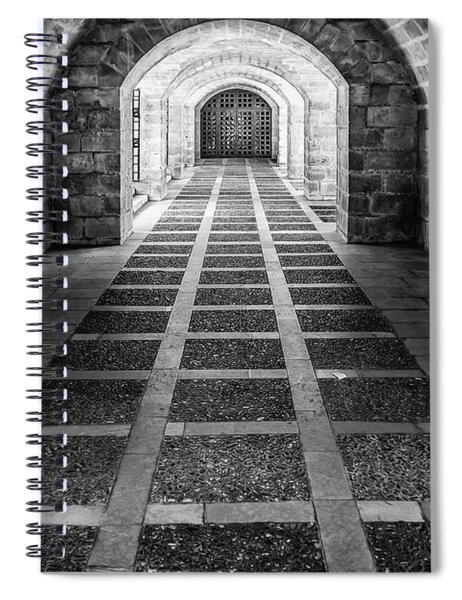Symmetry In Black And White Spiral Notebook