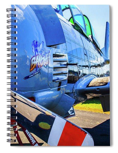 Spiral Notebook featuring the photograph T-28b Trojan Banshee  by Doug Camara