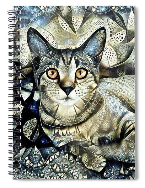 Tabby Cat Portrait - Prada Spiral Notebook