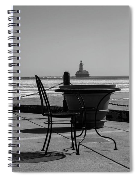Table For One Bw Spiral Notebook