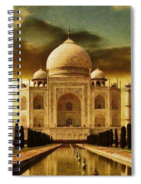Taj Mahal In The Morning Spiral Notebook