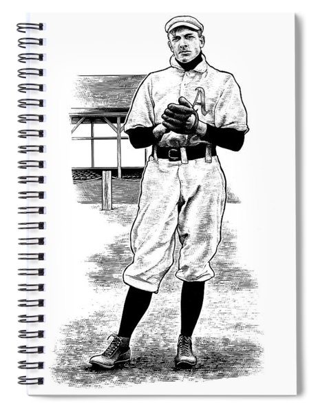 Take Me Out To The Ballgame Spiral Notebook by Clint Hansen