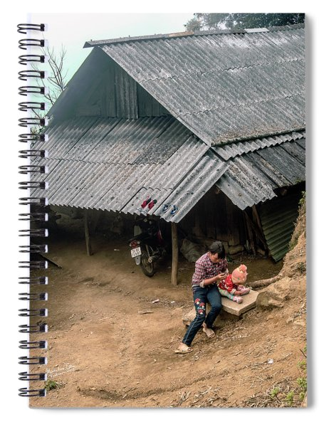 Taking Care Of Baby In Sapa, Vietnam Spiral Notebook