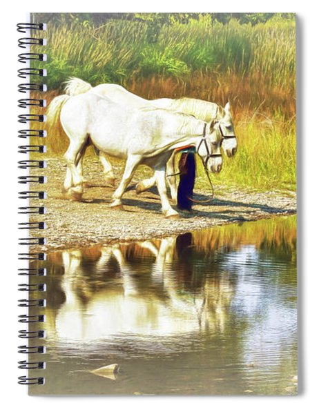 Leading The Horses To Water Spiral Notebook