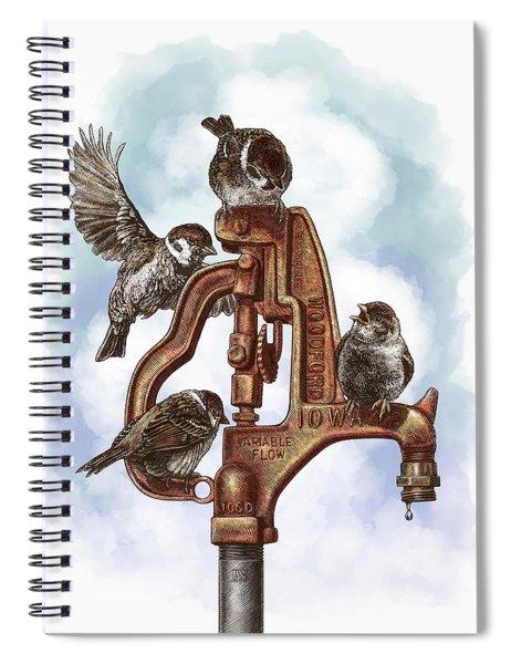 Talk Around The Watercooler Spiral Notebook