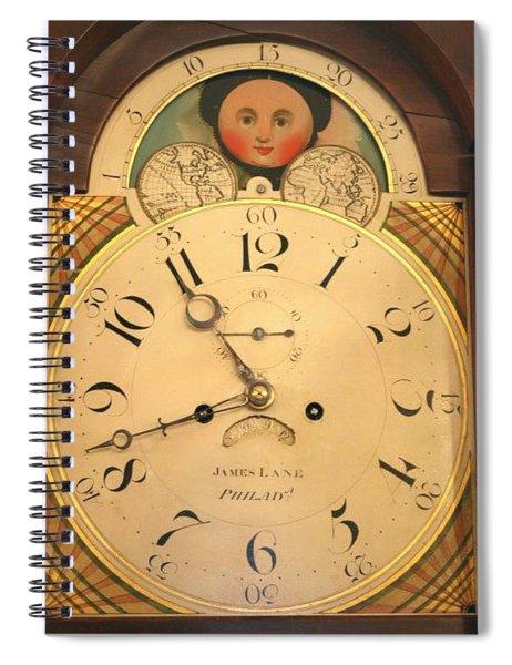 Tall Case Clock Face, Around 1816 Spiral Notebook