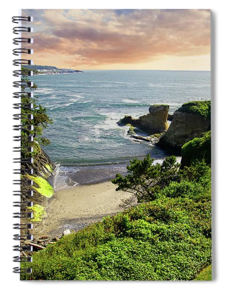 Tall Conifer Above Protected Small Cov Spiral Notebook