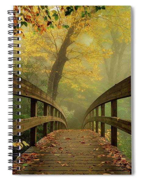 Tanawha Trail Blue Ridge Parkway - Foggy Autumn Spiral Notebook